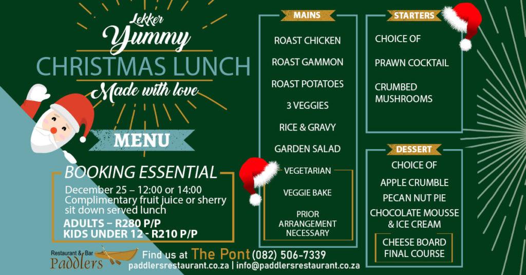 Christmas Lunch Menu